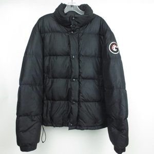 GUESS JEANS Black Puffer Rare Winter Jacket